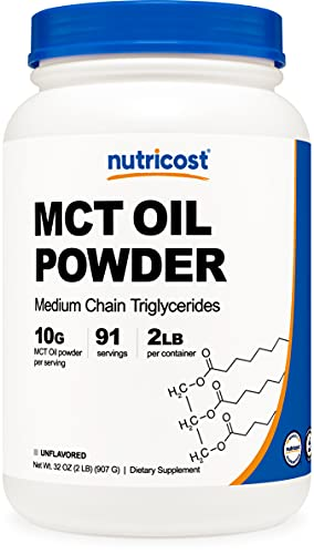 Nutricost MCT Oil Powder 2LBS (32oz) - Great for Ketosis and Ketogenic Diets - Zero Net Carbs -...