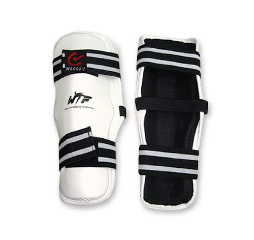 M.A.R International Wtf Approved Forearm Pads Guard Taekwondo Gear White Medium