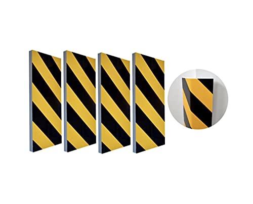 Zagon Protector de Parking - (4UNIDADES) 40x20x2cm - Protector Parachoques para Pared o Esquina - Franjas Amarillas y Negras - Protector de Columna para Garaje