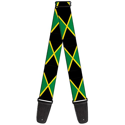 Guitar Strap Jamaica Flags 2 Inches Wide