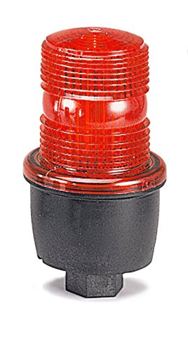 Federal Signal Low Profile Warning Light, Strobe, Red