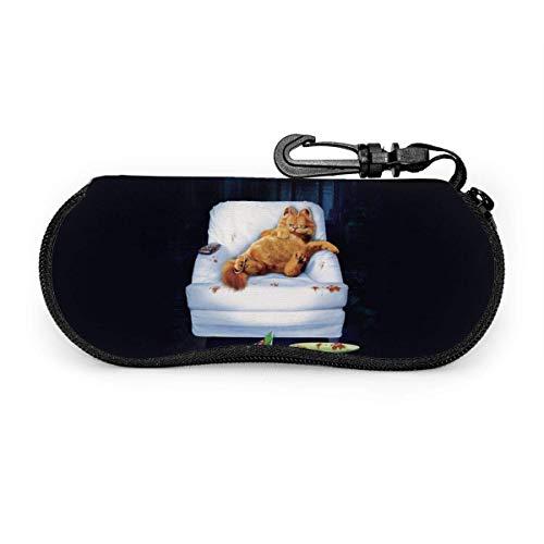 Estuche de gafas Garfield Sofá para dormir divertido Tema de dibujos animados Estuche para anteojos Gafas de sol Estuche blando Estuche de anteojos con ultraligero Estuche para gafas