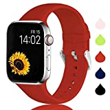Sichen Correa Compatible con Apple Watch Series 5/4/3/2/1, Correa de Silicona Suave de Repuesto Deportivo para Apple Watch 44 mm 42 mm 40 mm 38 mm