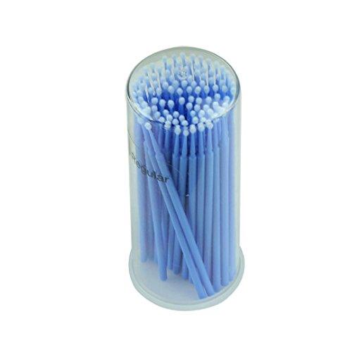 Fulltime®100pcs Cils Extension Micro Pinceaux jetable individuelle applicateurs Mascara