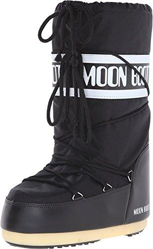 Moon-boot Nylon, Bottes de Neige Mixte, Noir J, 45/47 EU