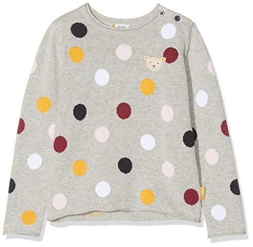 Steiff Mädchen Sweatshirt, Grau (QUARRY 9007), 122 (Herstellergröße:122)
