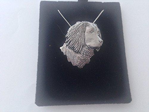 Collar de plata de ley 925 con cadena de 40,6 cm hecha a mano con prideindetails en caja de regalo
