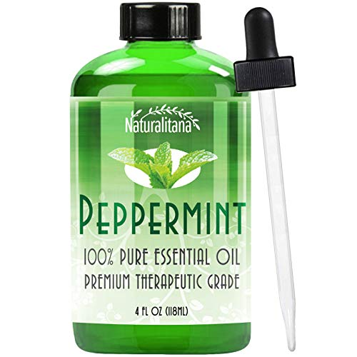 Best Peppermint Oil (4 Oz Bulk) Aromatherapy Peppermint Essential Oil for Diffuser, Topical, Soap, Candle & Bath Bomb. Great Mentha Arvensis Mint Scent for Home & Office