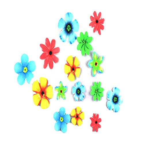 PW TOOLS 100pcs Butterfly Flower Shape Cake Baking Birthday Party Wedding Baby Shower Decoration Glutinous Edible Rice Paper Wafer Paper Cake Dessert Toppers
