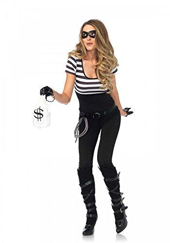 shoperama Sexy Banco räuberin Disfraz para Mujer De Leg Avenue–Ladrón Bullnet Mugshots Tanque banditin Cascanueces