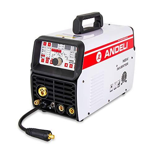 ANDELI Soldador MIG 220V MIG TIG MMA y soldadura en frío 4 en 1 Máquina de soldadura multifunción MIG-270TPL (paquete 6)