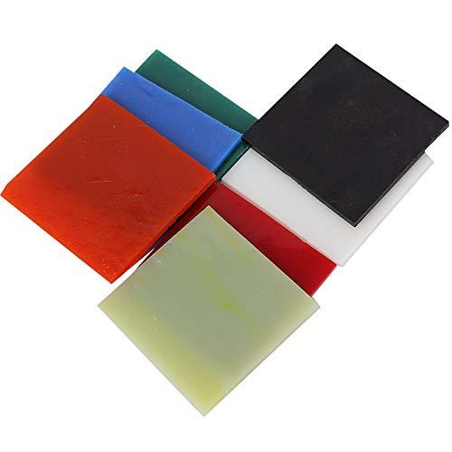 JULYKAI Duable, quadratische Glasscheibe, 7 Stück Bunte Glasscheibe, für Home Buntglasprojekte