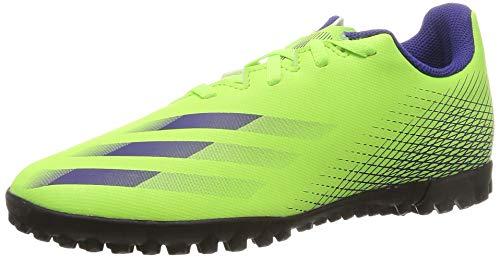 adidas X GHOSTED.4 TF J, Zapatillas de fútbol para Niños, Signal Green Energy Ink F17 Signal Green, 35.5 EU