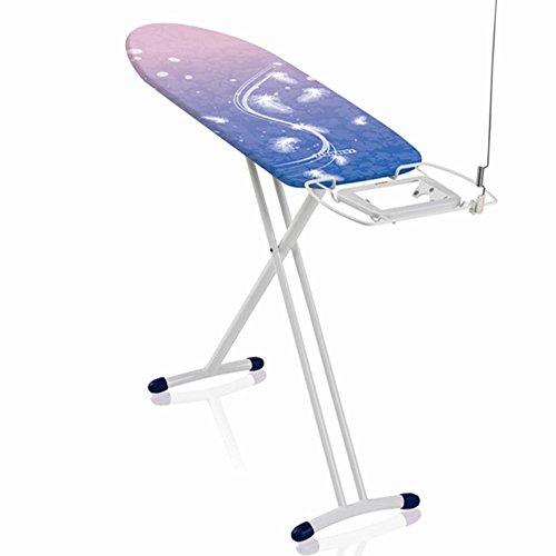 Leifheit Bügeltisch AirBoard Express M Solid Compact, ideal für Dampfstationen, kompaktes Bügelbrett mit Baumwoll-Spezialbezug für bessere Dampfverteilung, Dampfbügelbrett, ultraleichte Bügelfläche