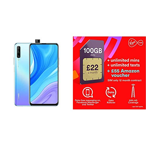 HUAWEI P Smart Pro - 128GB Smartphone with 6.59' Ultra FullView Display, 48MP Triple AI Cameras, Pop-up Selfie Camera, Kirin 710F, 4000mAh Battery, 6 GB RAM, Breathing Crystal with Virgin Sim