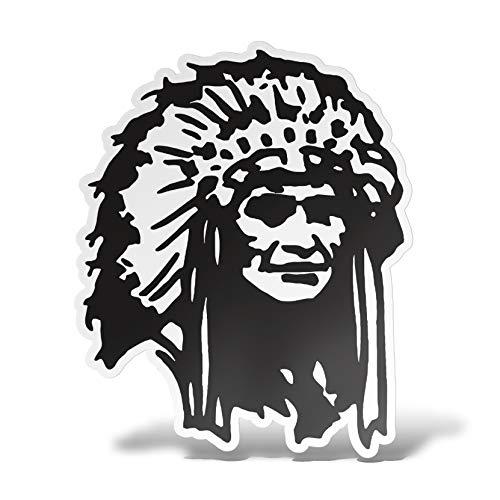 erreinge Aufkleber Native American Indian Aufkleber PVC-Form Für Abziehbild Tapete Auto Moto Helm Camper Laptop - 15 cm