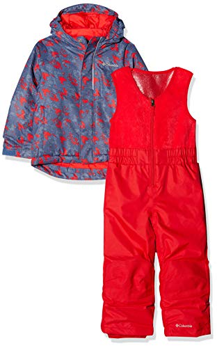 Columbia Enfant Combinaison de Ski avec Veste, BUGA, Nylon, Bleu (Dark Mountain Arrow Print), Taille : 3T