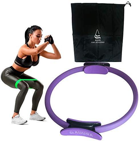 AUURA Pilates Ring for Women Set Fitness Equipment at Home Yoga Magic Circle Kegel Exercise product image