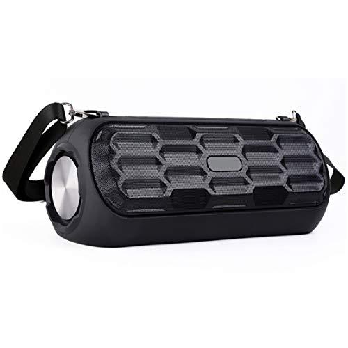 BG-6 Bluetooth Lautsprecher Kabellos Hohe Energie Subwoofer Draussen Tragbar Sprecher mit Schulterriemen, 4500mAh Batterie 10h Spielzeit