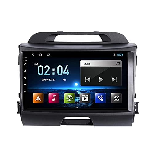 2 DIN Lettore MP5 per Autoradio 9 Pollici Touchscreen, per KIA Sportage R 2010-2016 Supporto BT/USB/SWC/Specchio Link/FM/OBD2/DAB +/1080P, con Fotocamera Posteriore,Quad Core,4G WiFi 2+32