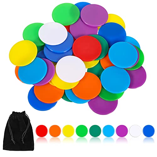 40 Fichas Pequeñas de Conteo Fichas de Bingo de Contar Contadores de Colores Multicolores Recurso de Aprendizaje Marcadores...