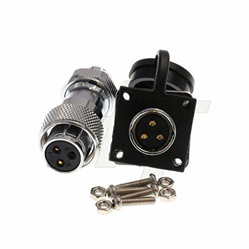 500Volts 5Amp HangTon HF16 9 Pin Metal Connector Aviation Waterproof Industrial Power LED Male Female Plug Socket