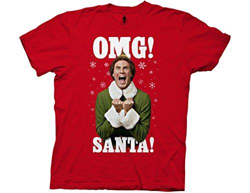 Ripple Junction Elf OMG Santa Adult T-Shirt Large Red