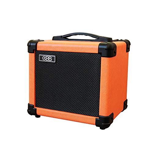 OBB Amplificador de guitarra Bluetooth de doble potencia, amplificador de guitarra eléctrica portátil con altavoz de 10 W, amplificador de guitarra que incluye perilla de ganancia/graves/agudos