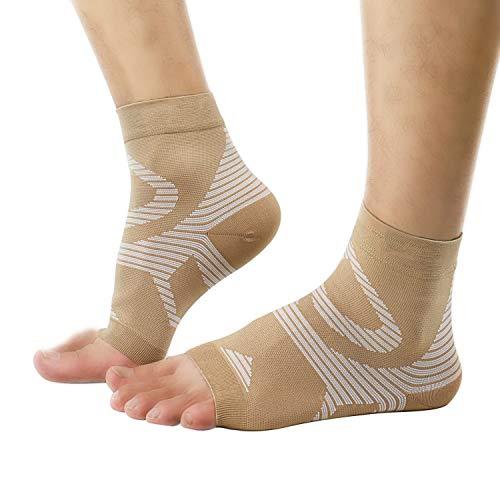 UONNER Sprunggelenk Bandage, Knöchelbandage, Fußbandage für Damen Herren Kompressionssocken Compression Socks Laufsocken für Sport Fitness