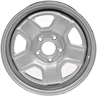 "Dorman 939-168 Steel Wheel for Select Jeep Models (16x6.5""/5x114.3mm), Silver"