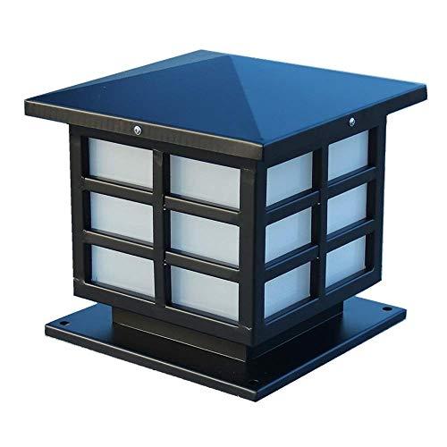 Lámcolumna exterior metal aluminio resistente al agua a prueba agua exteriores, lámcolumna exteriores, linterna exterior, patio residencial, jardín, paisaje, accesorio iluminación E27 exteriores