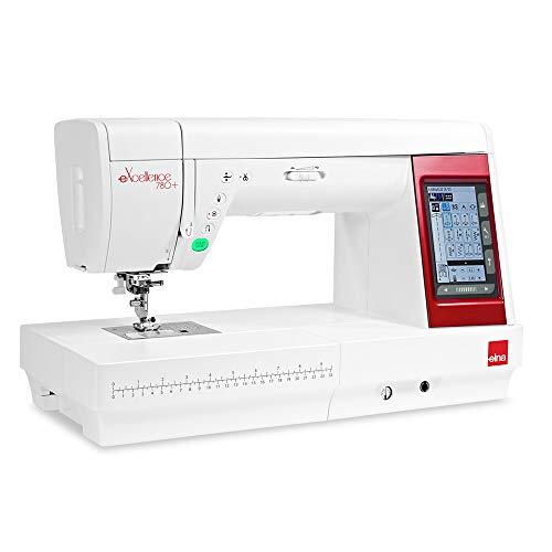 Elna eXellence 780+ Nähmaschine, großer komfortabler Arbeitsbereich, extra Langer Freiarm, Benutzerfreundlich