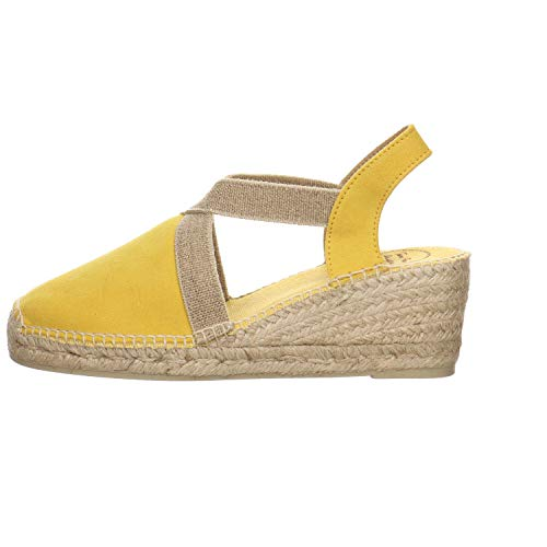 Toni Pons Tona Velour - Sandalias para mujer, color amarillo, color Amarillo, talla 38 EU