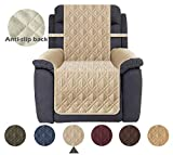 Ameritex Waterproof Nonslip Recliner Cover Stay in Place, Dog Chair Cover Furniture Protector, Ideal Recliner Slipcovers for Pets and Kids (23', Beige)