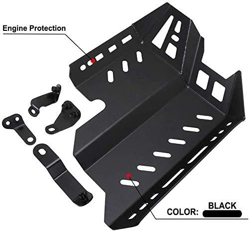 JFG RACING Protector de motor de motocicleta Bash inferior Skid Plate Protector para h.o.n.d.a CB500X 2019-2020-Negro