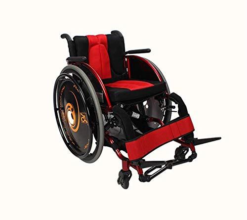 Dljyy Mode sport-rolstoelen 13.2kg ultra-licht transport stoel gezellig armen en benen Lifting to Rest 100 kg laden revalidatie fg/Red