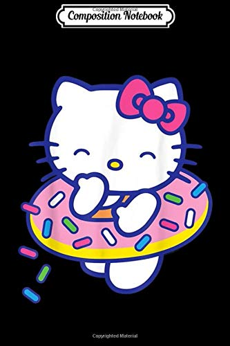 Composition Notebook: Hello Kitty Donut Sprinkles Floaty Summer Swimming Journal/Notebook Blank Lined Ruled 6x9 100 Pages