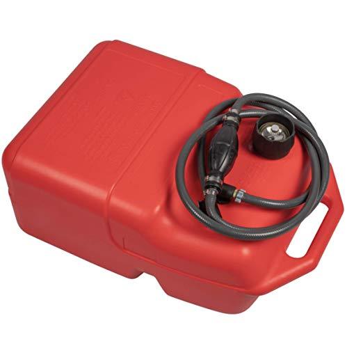 HIBO 25 Liter Benzintank Für Außenborder   Komplett Mit Benzinschlauch Pumpball   Mit Tankanzeige Und Anschluss Für Suzuki/Johnson/Evinrude