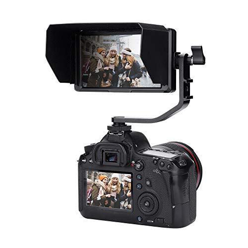 Feelword F6S camera field monitor 5 inch Full HD IPS-scherm op camera video field monitor 1920x1080 met verwijderbare zonbescherming voor DSLR-camera's, ondersteunt 4K HDMI
