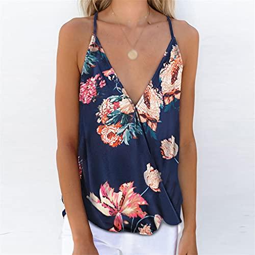XZJJZ Camisa de Manga Corta de Encaje de Verano Mujeres Casuales Sexy Tops Pure Color Pure Sild Cuello de V-Cuello Camisa de Gasa Superior (Color : Blue, Size : Lcode)