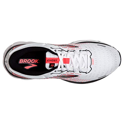 Brooks Ghost 13 White/Pink/Black 7.5 D - Wide
