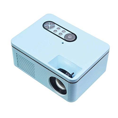 NIBABA Support HD Mini Micro PROYECTOR HD 1080 Proyector portátil Full HD 1080P Compatible con USB HD SD AV VGA para el Cine en casa with Projection Function (Color : Blue, Size : 137 * 126 * 57MM)