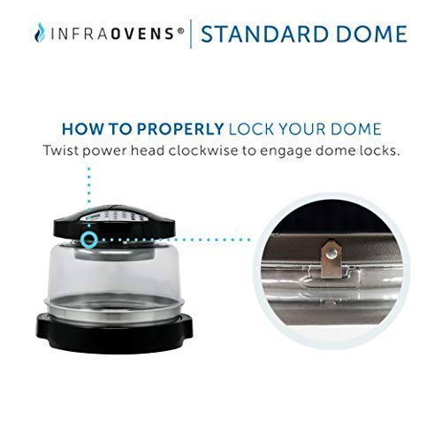 Dome Compatible with NuWave Oven PRO & PRO PLUS Models - Stronger and Durable Convection Oven Replacement Cover Bundles w/Adaptor Extender Ring + Cookbook + More Accessories by INFRAOVENS