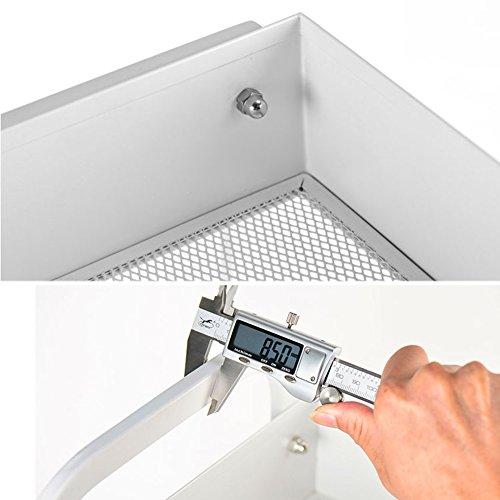 WENZHE - Estantería esquinera para cocina, balcón, baño, estudio, almacenamiento multifunción con polea, acero al carbono, blanco, 45 x 28 x 84 cm: Amazon.es: Hogar