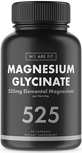 Magnesium Glycinate 425 mg Complex - High Absorption Mag Supplement to Support Magnesium Levels, Muscle Relaxation, Vegan & Non-GMO, 60 Veggie Caps