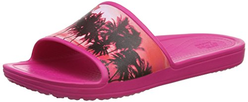 crocs Damen SloaneGrphSld Pantoffeln, Pink (Candy Pink/Tropical), 39/40 EU