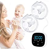 Wearable Electric Breast Pump Hands Free Breast Pump Wireless Breastfeeding Pump Silent Portable Double Breastpump with 5 Modes and 7 Levels and Memory Mode, Pain Free Strong Suction Breast Pumps
