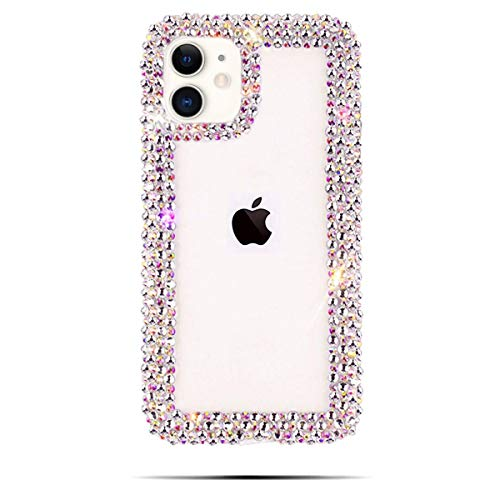 BONITEC Jesiya for iPhone 11 Case 3D Glitter Sparkle Bling Case Luxury Shiny Crystal Rhinestone Diamond Bumper Clear Protective Case Cover Clear