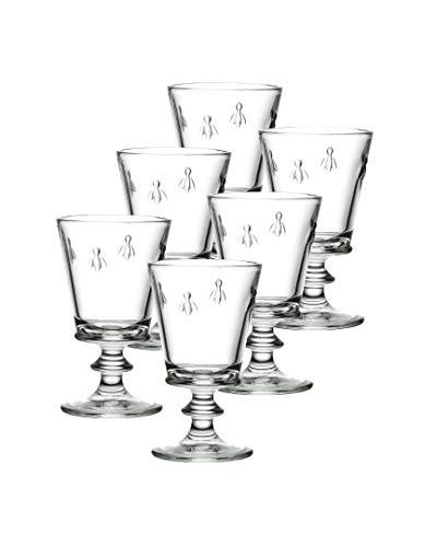 klar Glas 6er Pack La Roch/ère 630801 Fleur de LYS Eissch/älchen 270ml