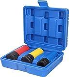 BRILLIANT TOOLS BT691005 Juego vaso de 1/2 pulgadas para llantas de aluminio, ancho de llave 17/19/21 mm, 3 piezas [Powered by KS Tools], 3-tlg